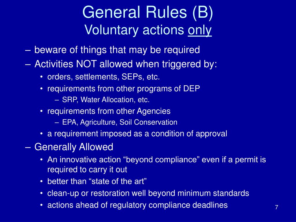 General Rules (B)