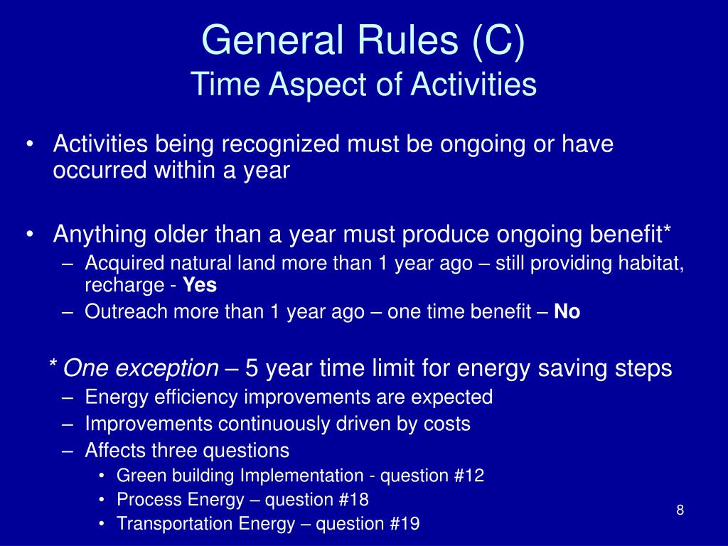 General Rules (C)