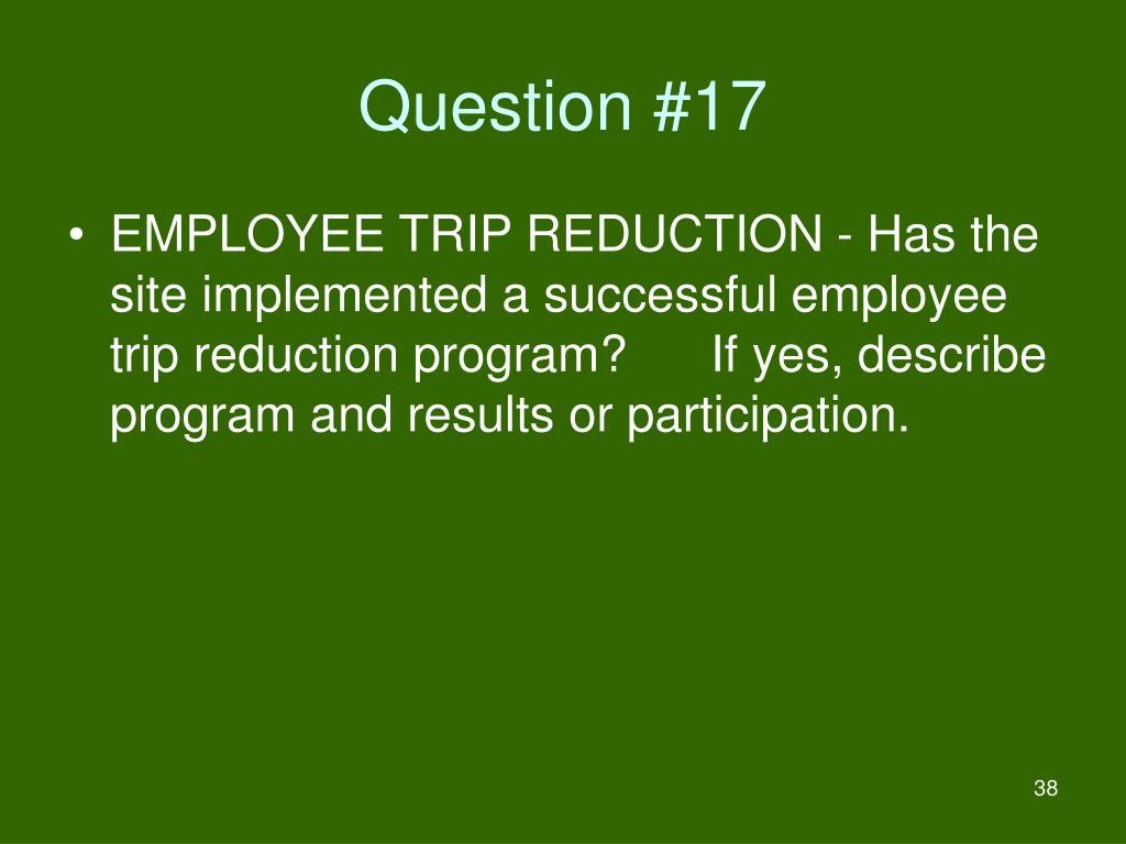 Question #17