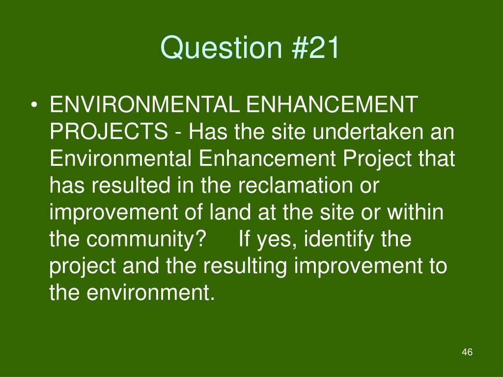 Question #21
