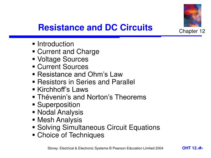 Resistance and dc circuits
