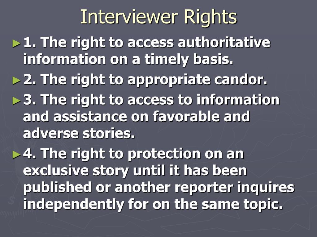 Interviewer Rights