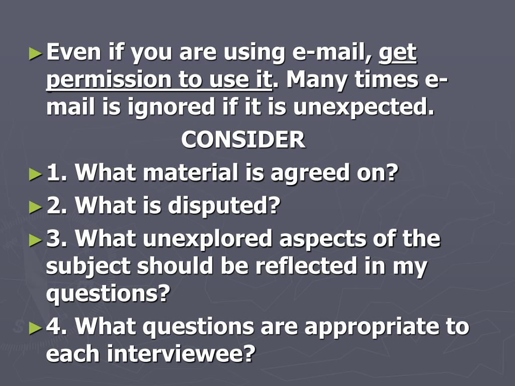 Even if you are using e-mail,