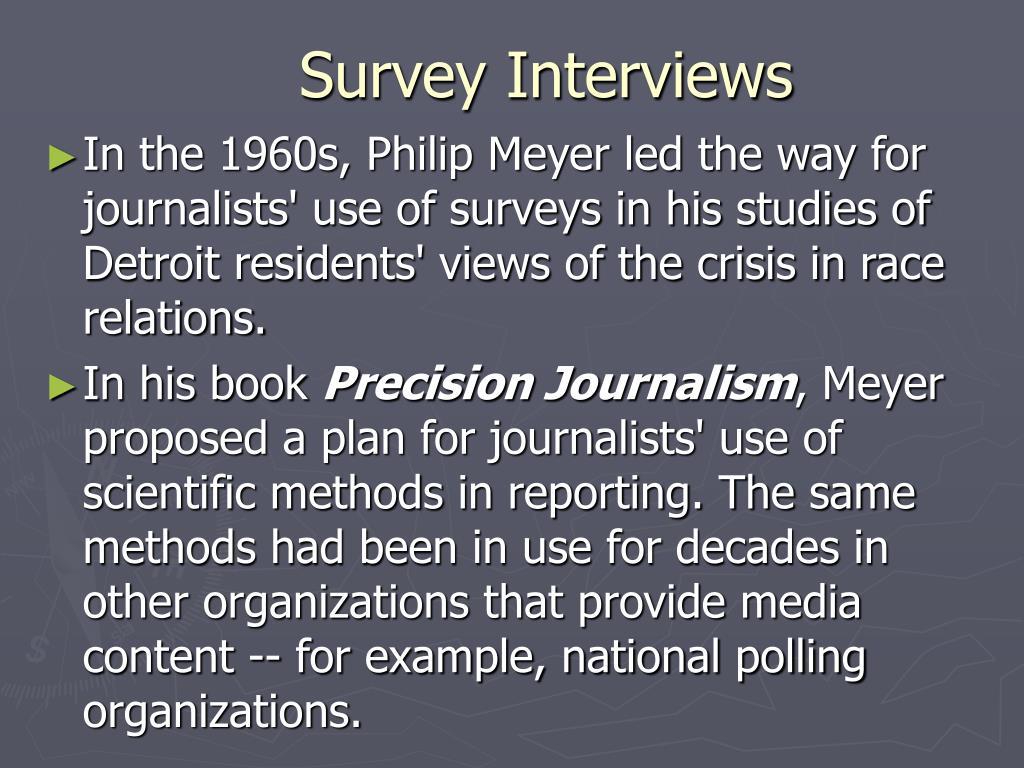 Survey Interviews