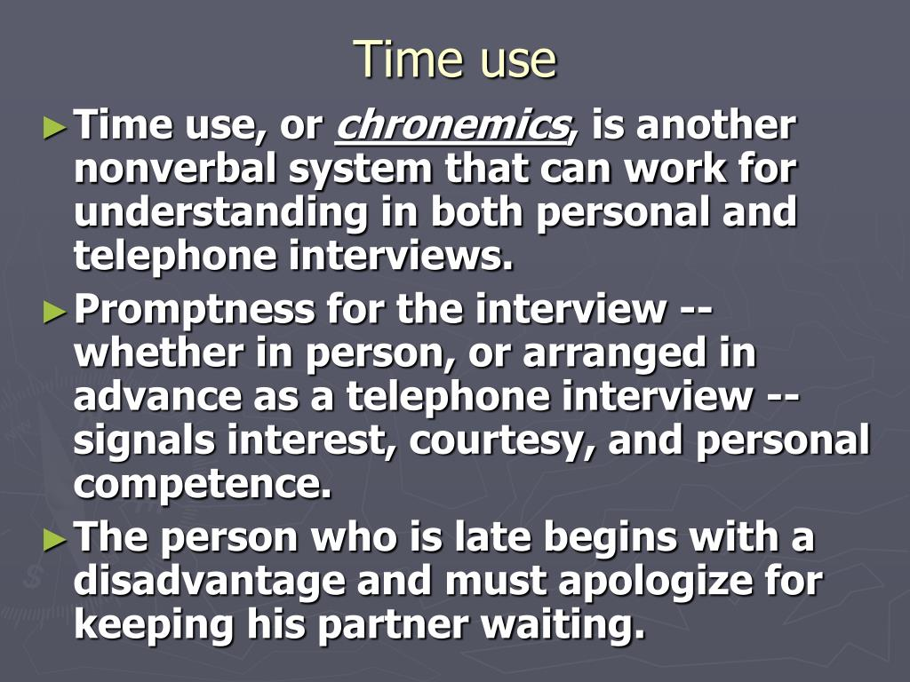 Time use