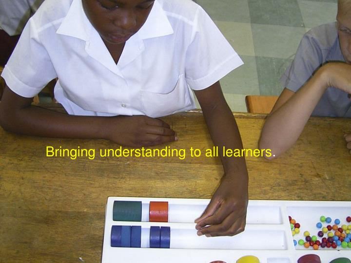 Bringing understanding to all learners