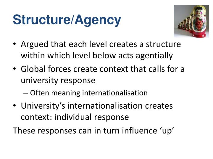 Structure/Agency