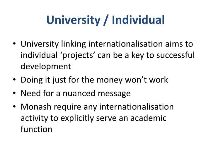University / Individual