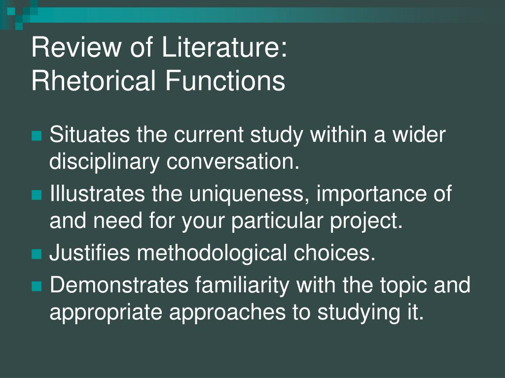 importance of literature review in thesis writing