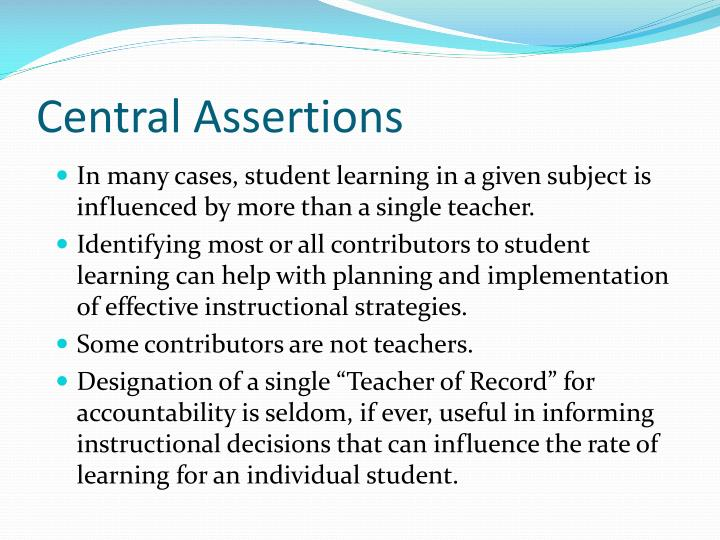 Central Assertions