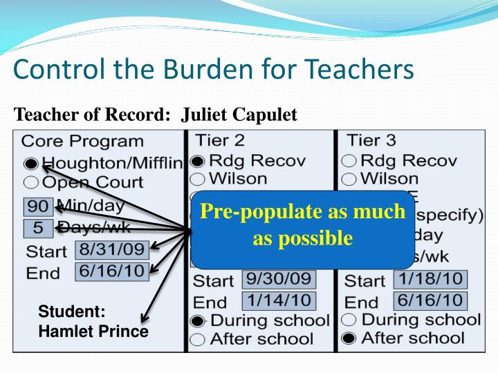 Control the Burden for Teachers