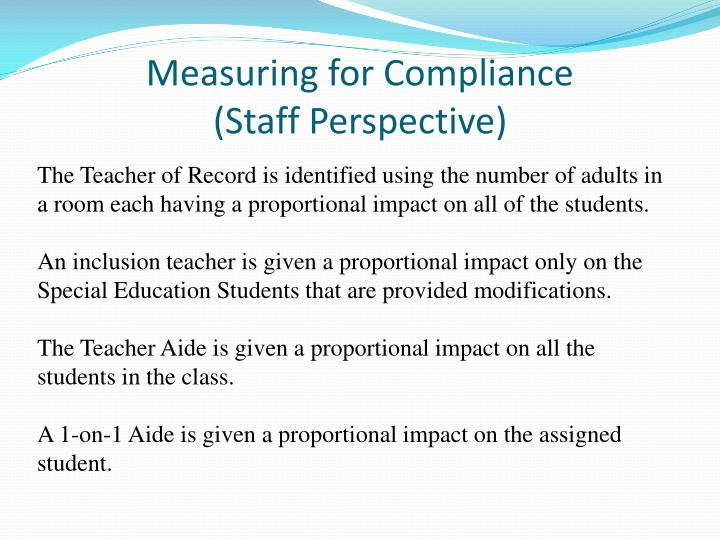 Measuring for Compliance
