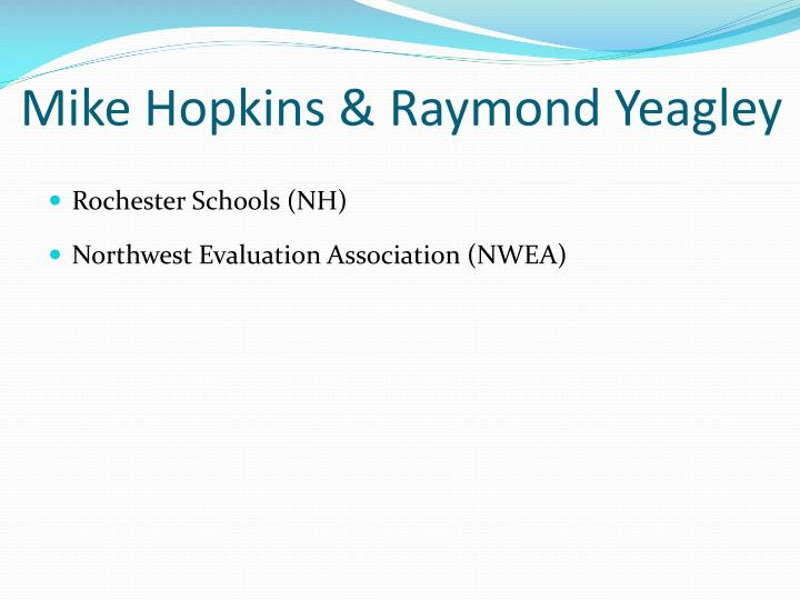 Mike Hopkins & Raymond Yeagley