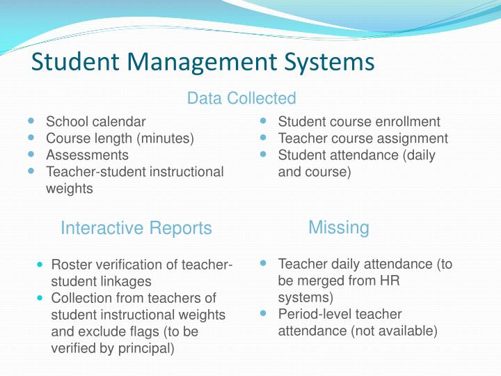 Student Management Systems
