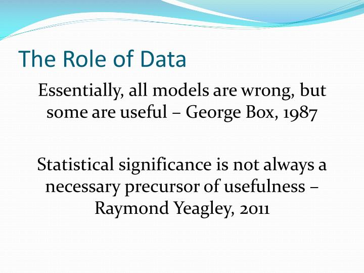 The Role of Data