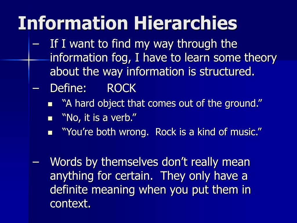 Information Hierarchies