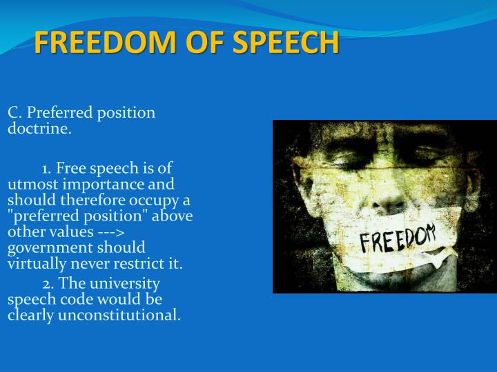 the importance of freedom of speech in a society Importance of philosophy: politics_rightshtml   if society were to permit some actions and  freedom of speech is required for liberty because without the.