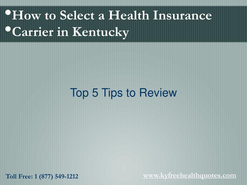 How to Select a Health Insurance