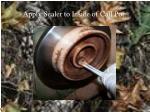 apply sealer to inside of call pot