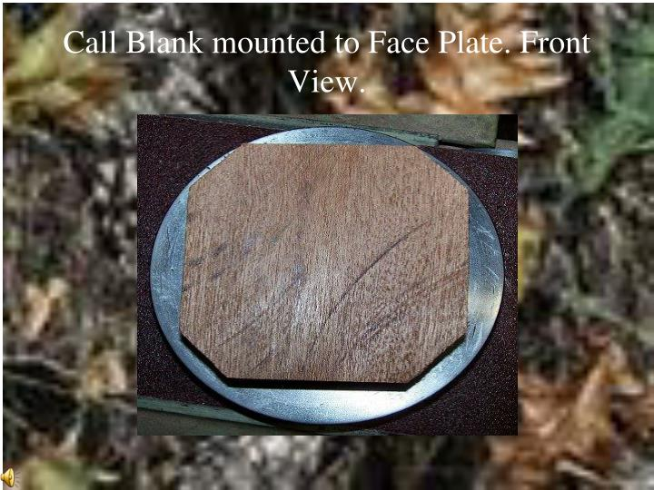 Call Blank mounted to Face Plate. Front View.