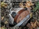 mount the tool rest to the lathe rotate call blank by hand to insure there is no interference