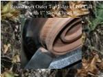 round over outer top edge of pot call with 1 skew chisel