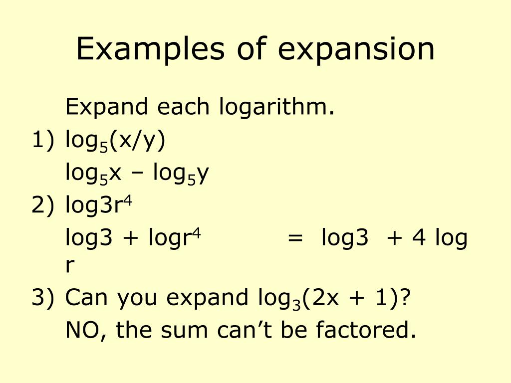 Examples of expansion