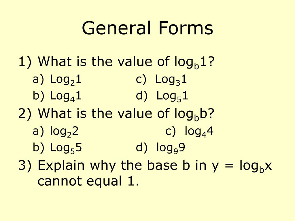 General Forms