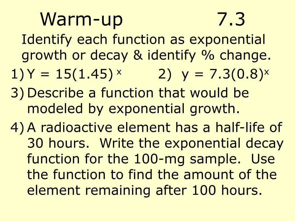Warm-up7.3