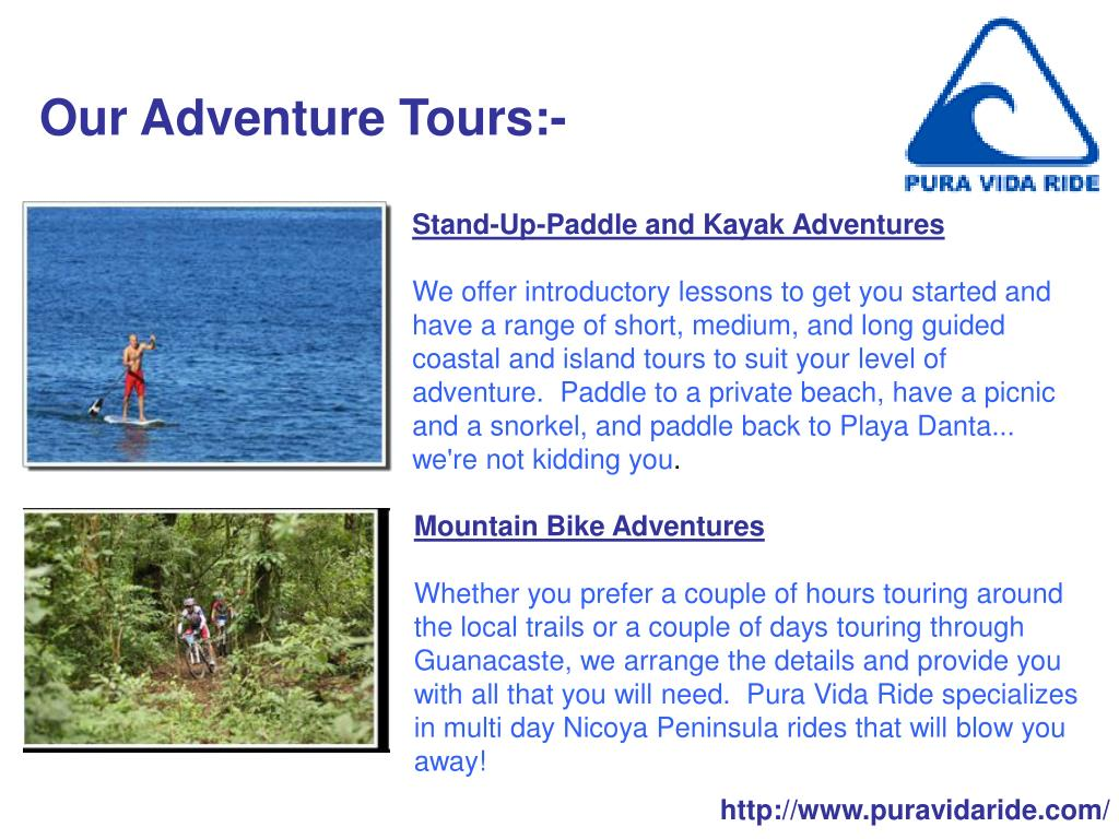 Our Adventure Tours:-