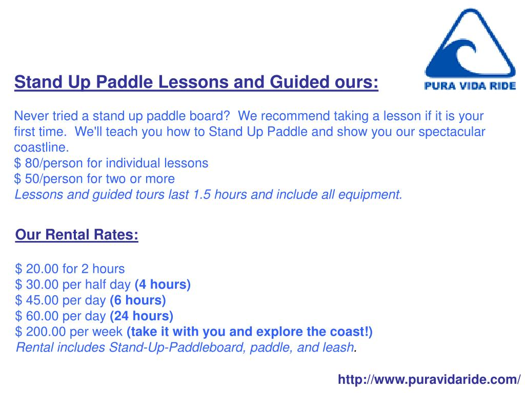 Stand Up Paddle Lessons and Guided ours: