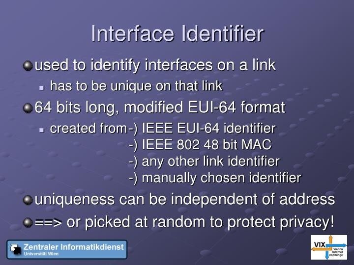 Interface Identifier