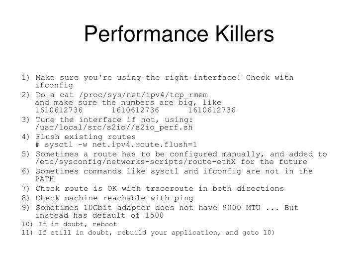 Performance Killers