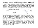 causal graph pearl s regression method
