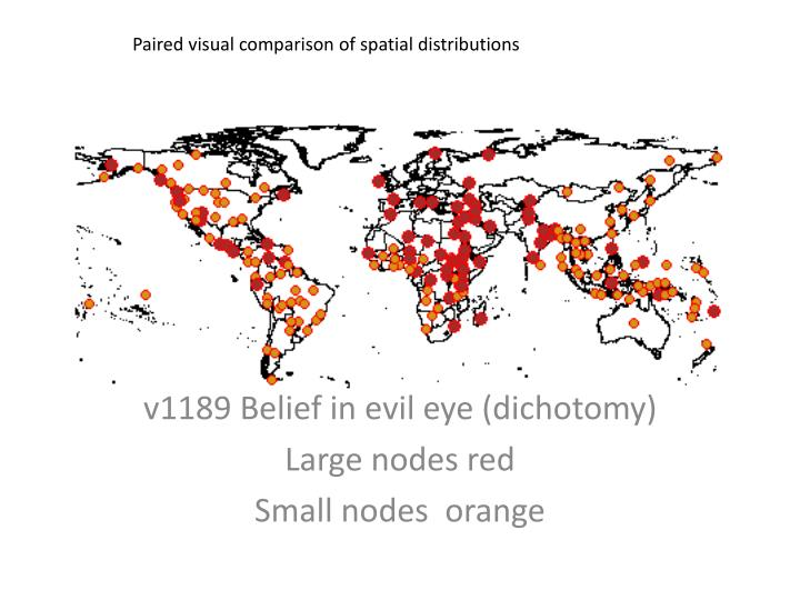 Paired visual comparison of spatial distributions