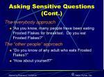 asking sensitive questions cont