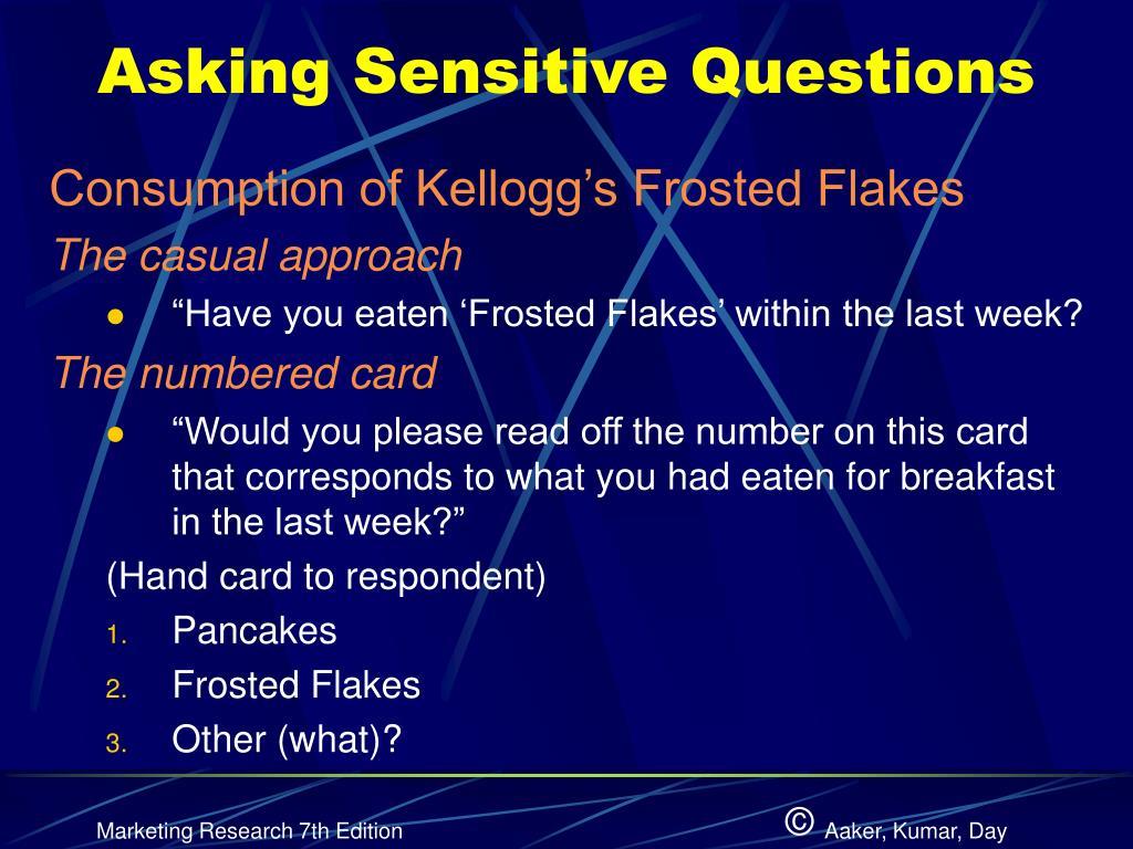 Asking Sensitive Questions