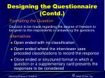 designing the questionnaire contd5