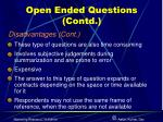 open ended questions contd9