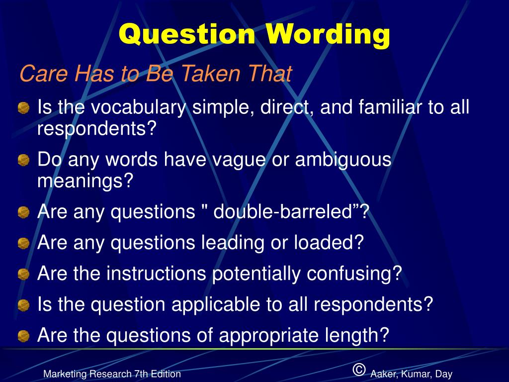 Question Wording