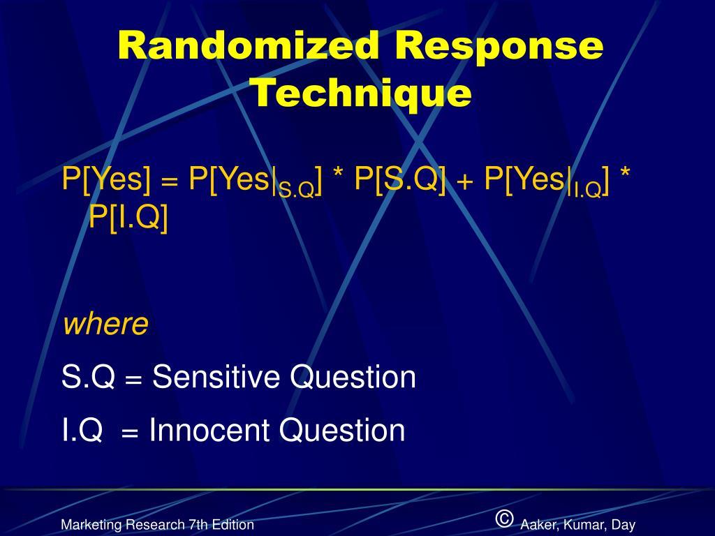 Randomized Response Technique