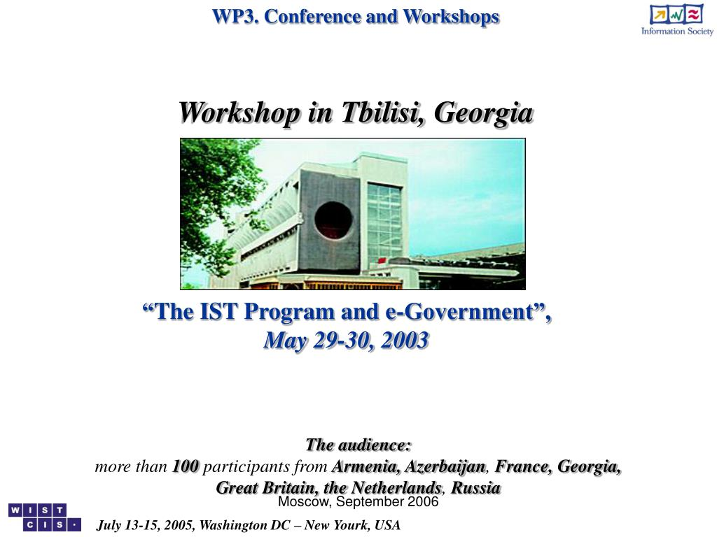 WP3. Conference and Workshops