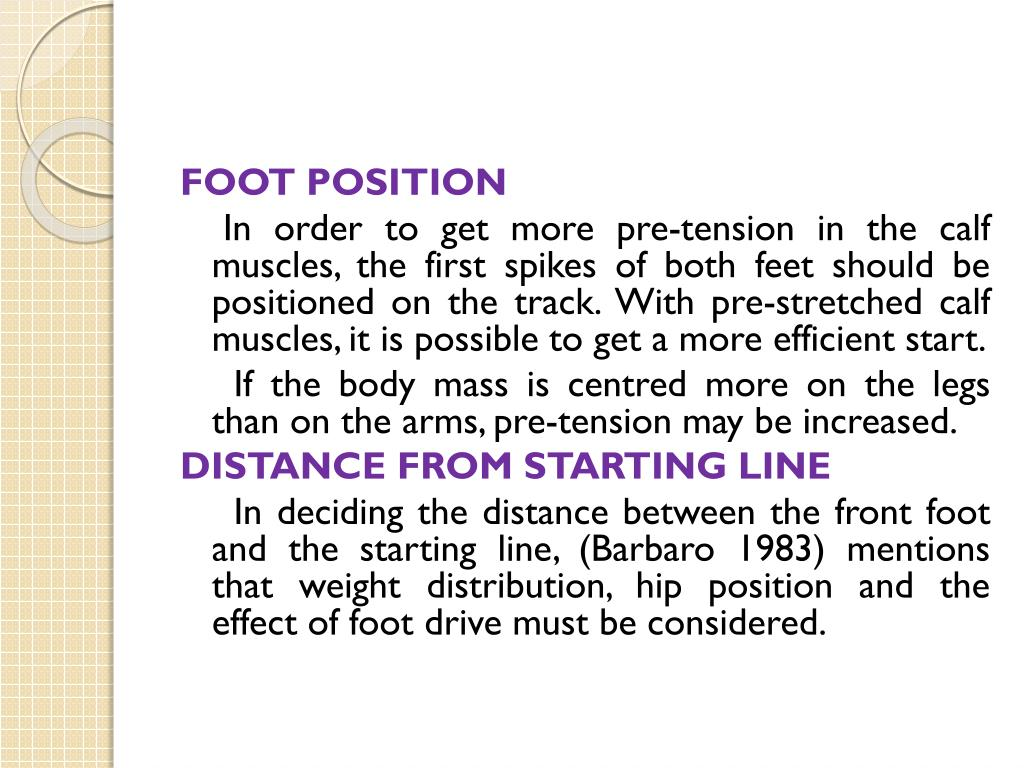 FOOT POSITION