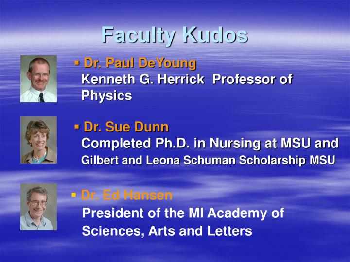 Faculty kudos2