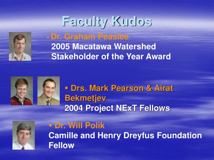 Faculty kudos3