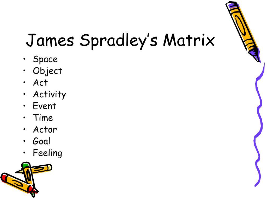 James Spradley's Matrix