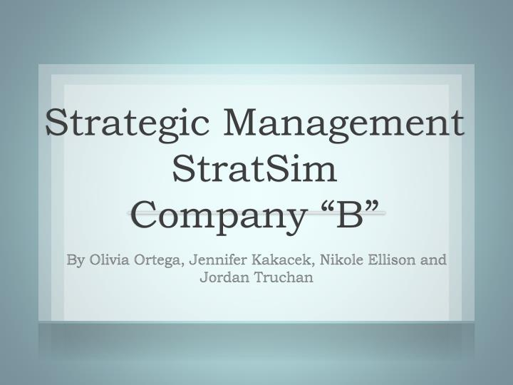 stratsim report Our marketing strategy simulation, stratsimmarketing, addresses the following issues:  dealers in stratsim are where sales and service are actually done how does .