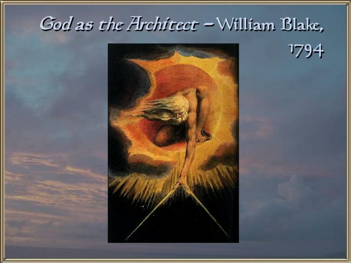 God as the Architect