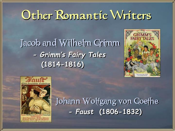 Other Romantic Writers