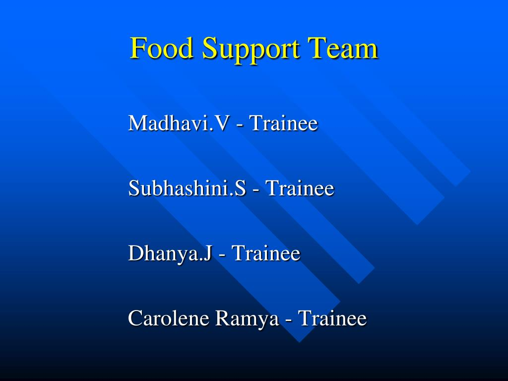 Food Support Team